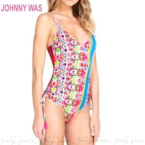 Johnny Was Francesca One Piece Swimsuit NEW XS